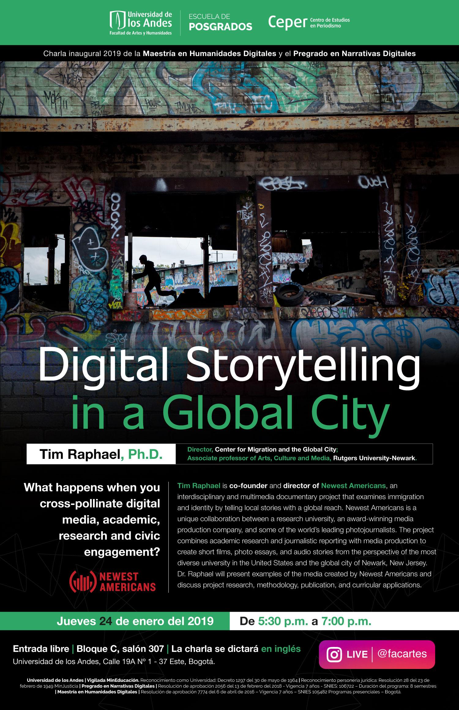 Charla inaugural 2019 – Digital Storytelling in a global city