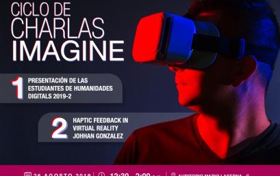 Estudiantes de Humanidades Digitales en el ciclo de charlas Imagine