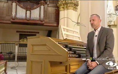 Vincent Heitzer, profesor de órgano de la Universidad de los Andes, en Noticias Caracol