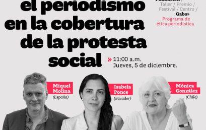 Seminario web:'Retos para el periodismo en la cobertura de la protesta social'