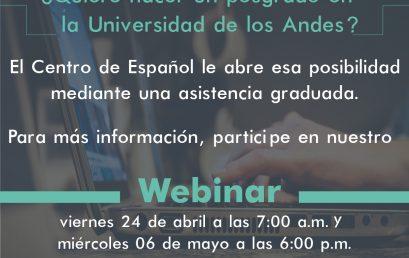 Webinar: Asistencias graduadas del Centro de Español