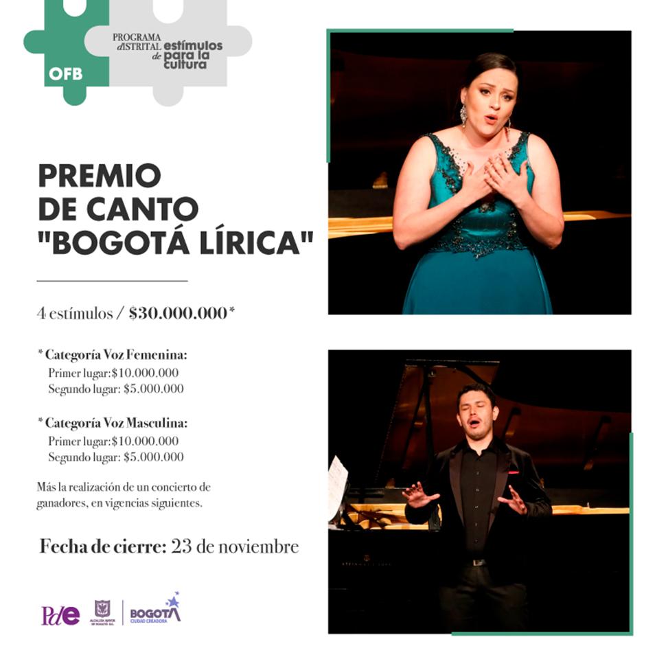 """Premio de canto """"Bogotá Lírica"""" OFB 2020"""