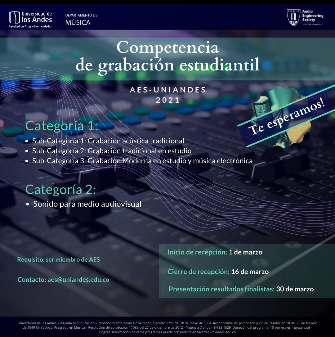 AES: Competencia de grabación estudiandil