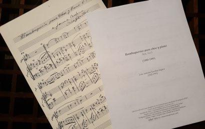 Ángela Casas, egresada de la Maestría en Patrimonio Cultural Mueble, recupera las partituras del compositor Luis Antonio Escobar